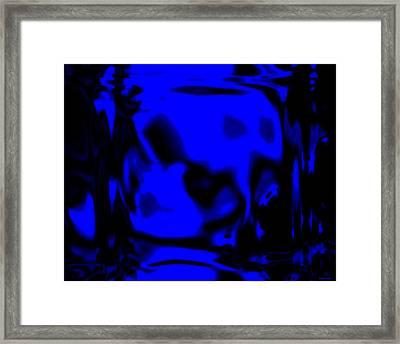 Blue Fashion Framed Print