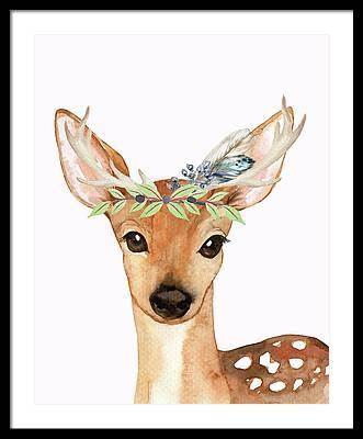 Deer Antlers Framed Prints