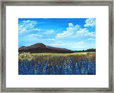 Blue Field Framed Print by Anastasiya Malakhova