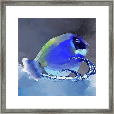 Blue Fish Framed Print by Art Spectrum