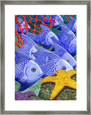 Blue Fish Framed Print by Catherine G McElroy
