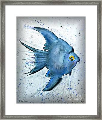 Framed Print featuring the photograph Blue Fish by Walt Foegelle