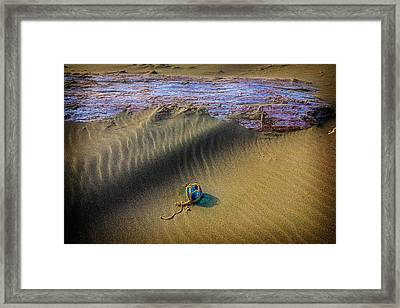 Blue Fishing Net Float Framed Print by Garry Gay