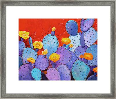 Blue Flame Companion 1 Framed Print by M Diane Bonaparte