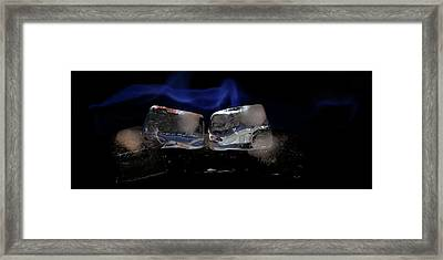 Framed Print featuring the photograph Blue Flames And Ice by Rico Besserdich