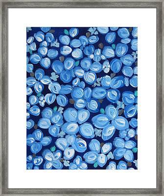 Blue Floral Frenzy Framed Print