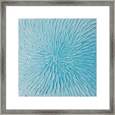 Blue Floral Framed Print
