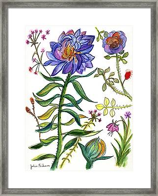 Blue Flowers 55 Framed Print by Julie Richman