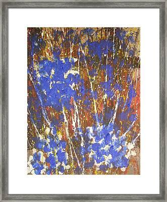 Blue Flowers Framed Print by Don Phillips