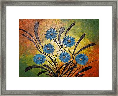 Blue Flowers For True People Framed Print