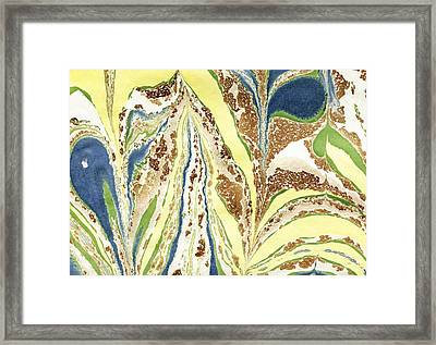 Framed Print featuring the painting Blue Flowers In Spring by Menega Sabidussi