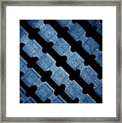Blue Foam Framed Print by Mark Fuller