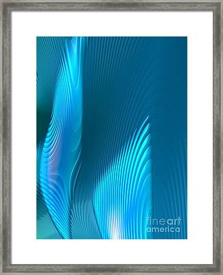 Blue Foils Framed Print