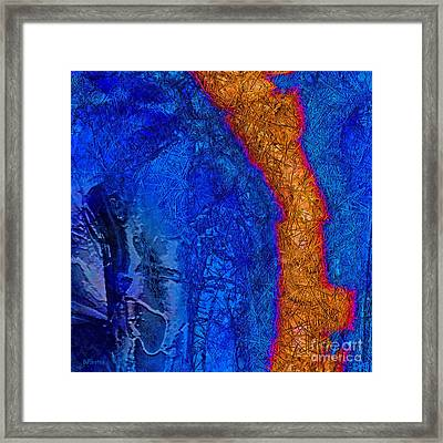 Blue Force Framed Print by Dee Flouton