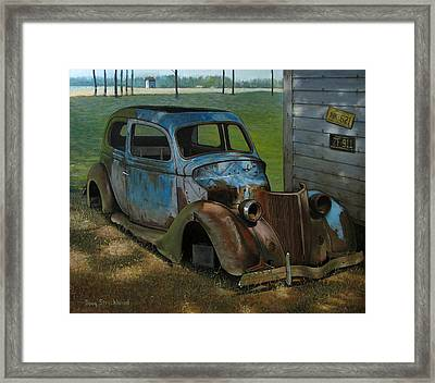 Blue Ford Framed Print by Doug Strickland