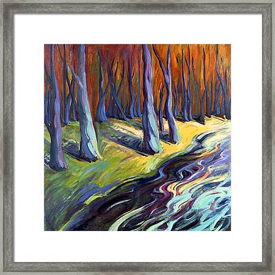 Blue Forest Framed Print