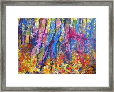Blue Forest Framed Print