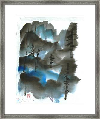 Blue Forest Framed Print by Mui-Joo Wee