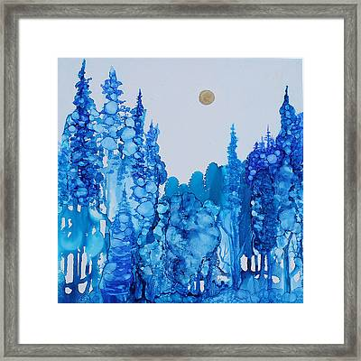 Blue Forest Framed Print by Suzanne Canner