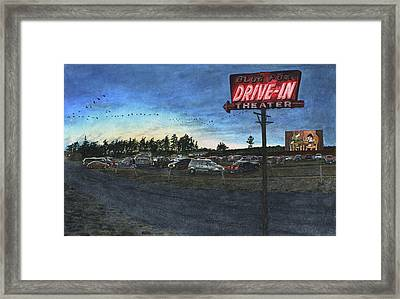 Blue Fox Framed Print by Perry Woodfin