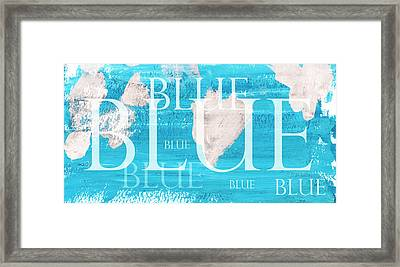 Blue Framed Print by Frank Tschakert
