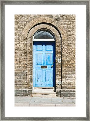 Blue Front Door Framed Print by Tom Gowanlock