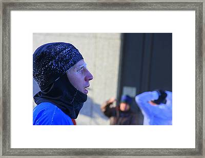 Blue Frost Framed Print by Laurie Prentice