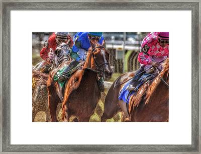 Blue Gaining Framed Print