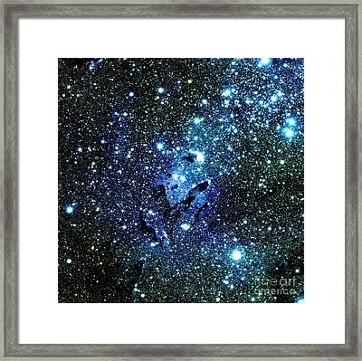 Blue Galaxy Framed Print by Johari Smith