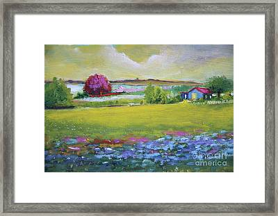 Blue Garden Framed Print