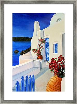 Blue Gate Framed Print by Patrick Parker