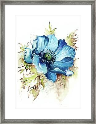 Blue Gem Framed Print