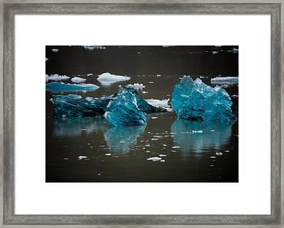 Blue Gems Framed Print