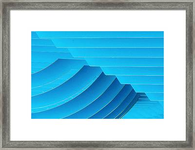 Blue Geometric Abstract 1 Framed Print