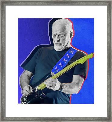 Blue Gilmour By Nixo Framed Print