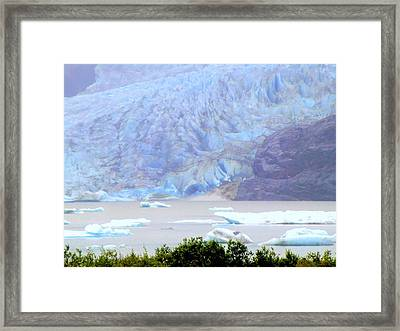 Blue Glacier Framed Print by Mindy Newman