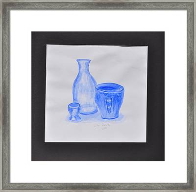 Blue Glass Framed Print by Jonathan Galente