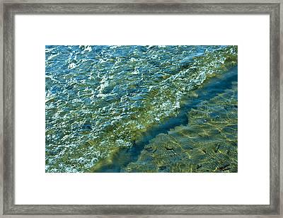 Blue Glass Seascape Framed Print by Aleck Rich Seddon