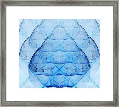 Blue Glass Framed Print by Yali Shi