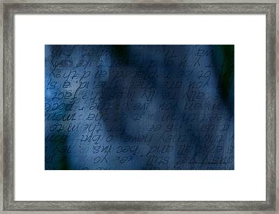 Blue Glimpse Framed Print