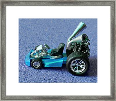 Blue Go Kart Framed Print