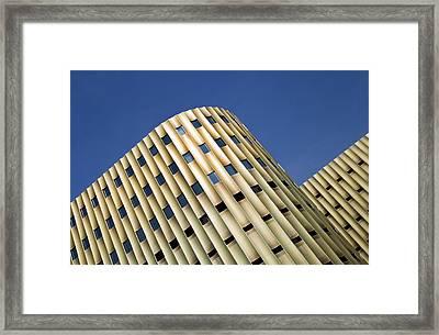 Blue Gold Framed Print
