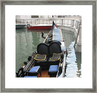 Blue Gondola Framed Print