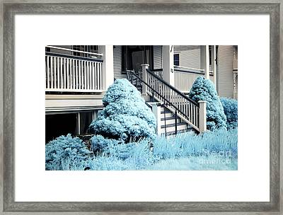 Blue Grass In Ocean Grove Framed Print