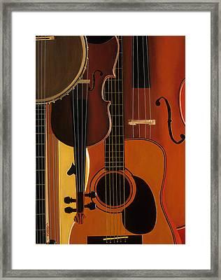 Blue Grass To Brahms  Framed Print