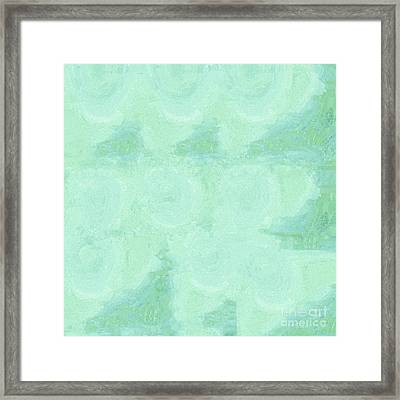 Blue Gray Cotton Fluff Framed Print by Eloise Schneider