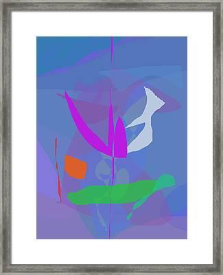 Blue Gray Framed Print