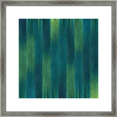 Blue Green Abstract 1 Framed Print
