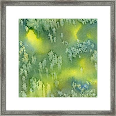 Blue Green And Yellow Abstract Watercolor Design 2 Framed Print by Sharon Freeman