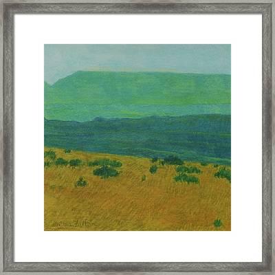 Blue-green Dakota Dream, 1 Framed Print